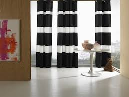 Black And White Window Curtains Home Décor With Stripes Window Bedrooms And Contemporary