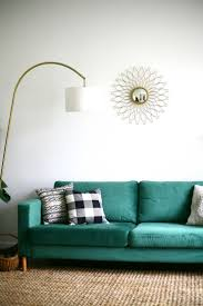 Living Room Design Green Couch Furniture Home Karlstad Sofa Cover Inspirations Furniture Designs