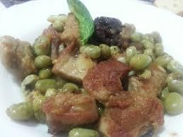 Toc De Cuisine - faves amb costella botifarra negra i toc de menta plats