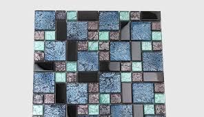 crystal glass tile backsplash black stainless steel with base meta