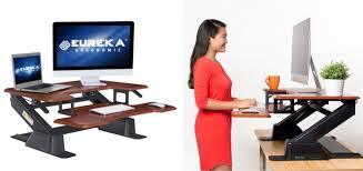 eureka ergonomic height adjustable standing desk eureka ergonomic height adjustable standing desk converter 239 20