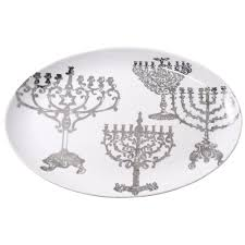hanukkah plate lights of hanukkah platter