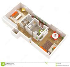 apartment interior design 3d floor plan royalty free stock