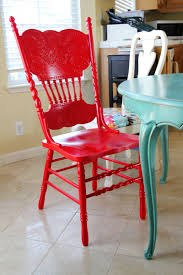 Red Kitchen Table by The Sassy Pepper Red Chair