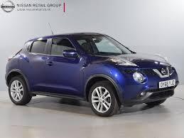 nissan qashqai vs juke used nissan juke blue for sale motors co uk