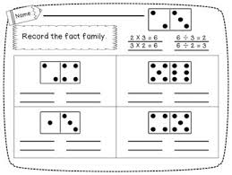 freebie domino fact families for addition and multiplication by