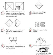 how to make a fortune teller origami how to make fortune teller