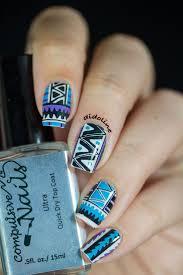 deco ongle en gel noir et blanc les 25 meilleures idées de la catégorie ongles aztèques sur