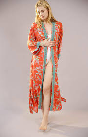 dressing gown parisian organic cotton kimono