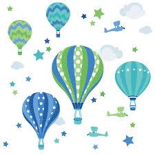 heißluftballon kinderzimmer dinki balloon kinderzimmer wandsticker heißluftballons blau grün