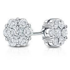 earring diamond cluster diamond earring heere ki baali jewellery