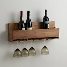wine stem rack crate and barrel