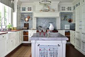 blue and white kitchen ideas kitchens with white cabinets kitchenidease