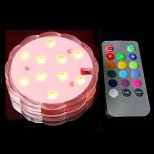rgb led puck lights 10 led rgb submersible light 4 pack