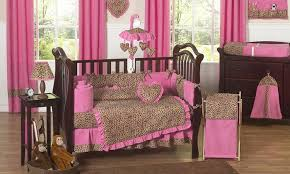 Animal Print Crib Bedding Sets Cheetah Pink Baby And Bedding Sets Stylish Sweet Jojo