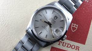 steel tudor rolex oyster perpetual date day ref 94500 vintage