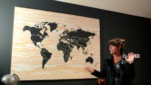 World Map Home Decor Carved Wooden World Map Wood Wall Art Home Decor Throughout World