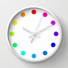 colorful wall clocks shenra com