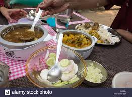 Dining Table With Food Traditional Indian Food Ready To Eat Lunch Time Dining Table Stock