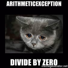 Divide By Zero Meme - arithmeticexception divide by zero sad kitten meme generator