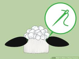 sheep costume how to make a sheep costume 11 steps with pictures wikihow