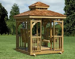 Gazebo Porch Swing by Treated Pine Hip Roof Rectangle Gazebo Swings Gazebo Swings