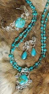 turquoise necklace earring set images Chilean turquoise necklace pendant bracelet and earring set jpg