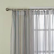 Pinch Pleated Semi Sheer Curtains Leyden Pinch Pleated Mediterranean Stripes Fresh Style Sheer