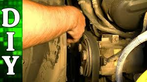 how to remove and replace a serpentine belt 2002 ford f150 4 2l