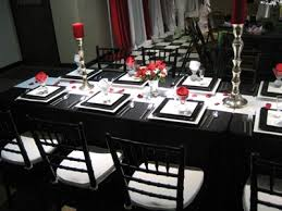 black and white table settings black and white party table settings f28 in perfect home interior