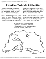 free poetry and nursery rhyme worksheets and coloring pages tlsbooks