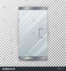 clear glass door glass door transparent vector clear glass stock vector 601201919