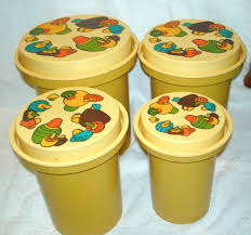 kitchen canisters set of 4 vintage yellow rubbermaid mushroom nesting kitchen canisters set