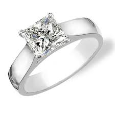 solitaire princess cut engagement rings a platinum set princess cut solitaire for myself yes i