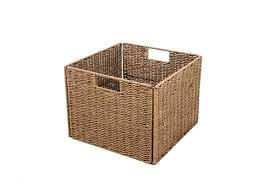 foldable storage basket with iron wire frame set of 4 by