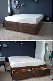 Build A Wood Bed Platform by 21 Diy Bed Frame Projects U2013 Sleep In Style And Comfort Diy U0026 Crafts