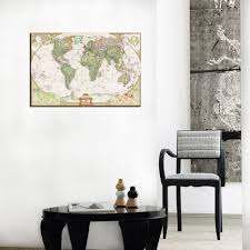 One Piece World Map Home Decor Canvas One Piece World Map Mural Art Decorations For
