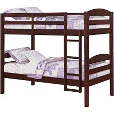 amazon com mainstays twin over twin wood bunk bed multiple