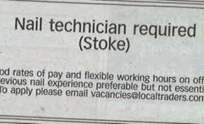 Nail Tech Meme - anorak beauticians apply for job as stoke nails technican
