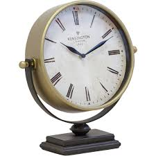 desk clock gold metal desk clock reviews birch lane
