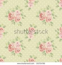 cute seamless shabby chic pattern roses stock vector 313724786