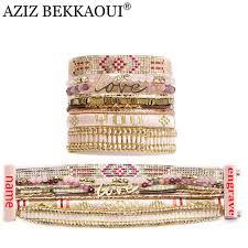 Customized Name Bracelets Online Shop Aziz Bekkaoui Multilayer Wide Bracelets U0026 Bangles With