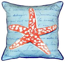 Starfish Cushion Coral Starfish Extra Large Zippered Indoor Outdoor Pillow