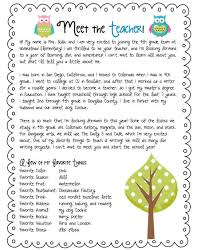 brilliant ideas of sample teacher introduction letter to parents