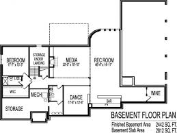 Garage Blueprint Decor Ranch House Plans With Basement Rambler Floor Plans