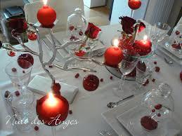 deco table rose et gris décoration de table rouge