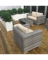 Garden Chairs And Table Png Hire Rattan Garden Set With Natural Seat Pads