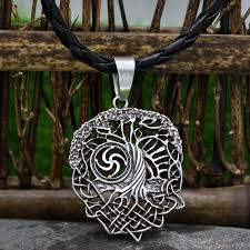 tree of necklace family tree slavic rod symbol pendant viking