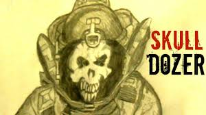 how to draw the skull dozer from payday 2 youtube