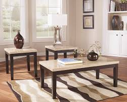 table sets for living room ashley set of 3 faux marble top tablest165 13 home furniture